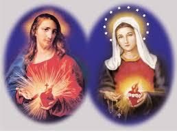 Resultado de imagen para sagrados corazones jesus y maria