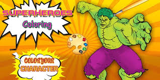 With the introduction of full length action movies, the whole world loves these brave comic book heroes. Hulk Coloring Pages Superheroes Coloring Book For Android Apk Download