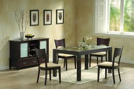 Dining room: Black Square Modern Dining Table With Chairs And Sideboard In Nice  Dining Room