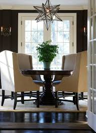 dining room brown chandelier