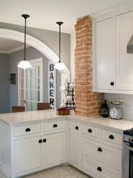 Exposed Brick Kitchen Fixer Upper Brick Cottage For Baylor Grads