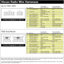 1996 nissan sentra radio wiring color code nissan navara wiring