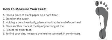 Energetiks Size Chart Shoe Size Guides
