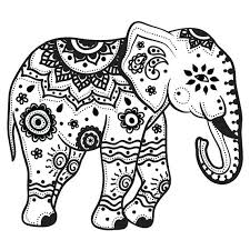 Coloring Pages Elephants Download Elephant Coloring Pages For Adults