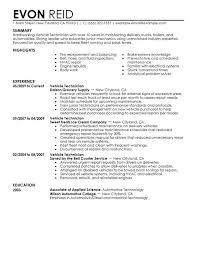 Best Automotive Technician Resume Examples Field Service Technician