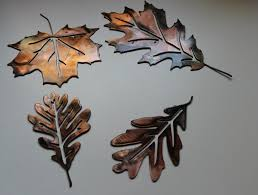 metal wall art and decor leaves