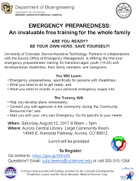 Peak Family Preparedness Pikes Arc Training Region - Emergency The