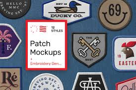 Patch Mockups And Embroidery Generator In Apparel Mockups On Yellow Images Creative Store
