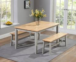 dining room table bench. Plain Room Chiltern 150cm Oak And Grey Dining Table Set With Benches With Room Bench E