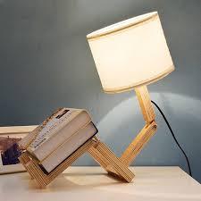 decbest robot table lamp distinctive unique adjule diy book night light bedside lamp home decor
