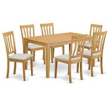 east west furniture caan7 oak c 7 piece small kitchen table and 6 chairs dining