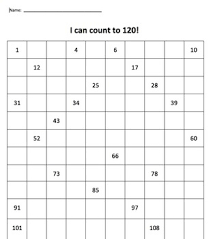 Blank 120 Chart Printable 120 Chart Partially Filled