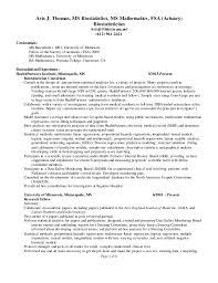 Page 1 of 6 Avis J. Thomas, MS Biostatistics, MS Mathematics, ...