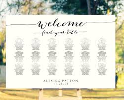 Welcome Wedding Seating Chart Template In Four Sizes 16x20