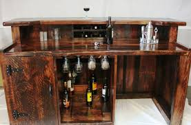 rustic wooden home mini bar cabinet with hutch and shelf fridge partment wine storage plus glass holder nightstand furniture for minimalist interior nu decoration