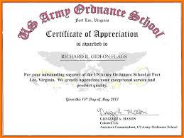 Certificate Of Appreciate Sample Certificate Of Appreciation For Facilitator