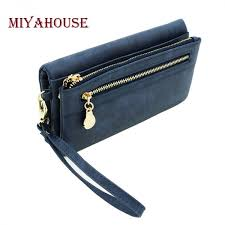 faux leather double zipper wallet in 8 colors free