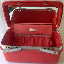 samsonite red train case montbello ii retro royal traveller overnight luge make up suitcase
