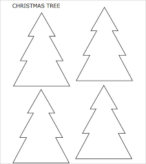 Christmas Tree Cut Out Patterns 22 Christmas Tree Templates Free