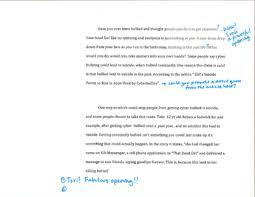 student sample argument essay draft cyberbullying betterlesson student sample argument essay draft 1