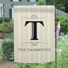 personalized home flags elegant monogram garden flag outdoor house