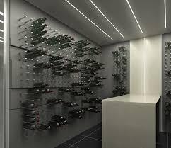 custom wine storage walls for modern wine cellars stactcustom by cellart bellevue custom wine cellar