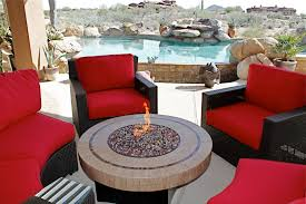 Patio Ideas Gas Fire Table In A Design Of Patio Set With Fire Pit