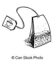 tea bag clipart. Wonderful Bag Tea Bag With Label Hand Drawing Sketch Vector Illustration In Bag Clipart B