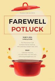 farewell potluck invitation template