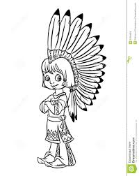 Cartoon Native American Coloring Pages Indian Page Pictures