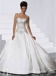 discontinued wedding dresses for sale. soft shimmer satin embroidery ball gown strapless scoop neckline wedding dress sort of cute discontinued dresses for sale