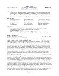 Change Management Resume Sample Engineering Page 1 Summary At