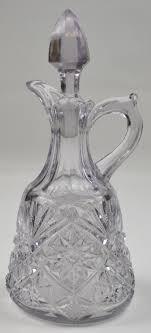 clear cut glass oil vinegar cruet with stopper 7 25 tall