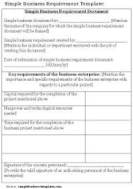 requirements document template simple software requirements document template business templates