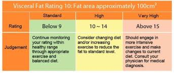 Visceral Fat Chart Understanding Tanita Measurements Tanita Asia Pacific