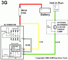 1 wire alternator diagram wiring diagram and schematic design 3wire to 1 wire alternator conversion the h a m b