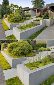 excellent examples of builtin concrete planters  contemporist