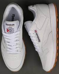 reebok reebok classic leather trainers white gum