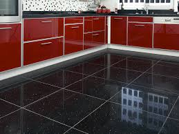 Tile Kitchen Floors Sample Of Black Quartz Sparkling Mirror Fleck Wall Floor Kitchen