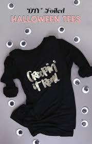 To Make Shirts Diy Custom Foil Shirts With Free Halloween Cut Files