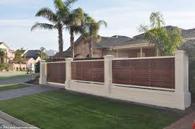 House Fencing Ideas For Your Front Yard Trends With Wall Fence Designs  Pictures Also Concrete Gate