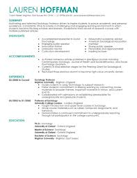 Lecturer Resume Sample Download English Teacher Examples Format