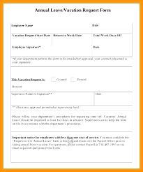 Sample Vacation Request Form Leave Application Form Template Annual Forms Of Solutions