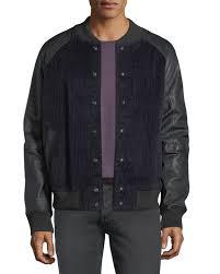 men s leather sleeve corduroy varsity jacket