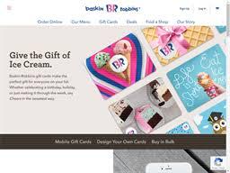 Baskin Robbins | Gift Card Balance Check | Balance Enquiry, Links ...
