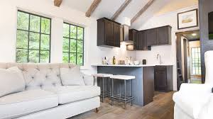 tiny house interior. Tiny House Dark Wood Kitchen Interior