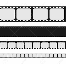 Film Strip Collection Set Of Blank Movie Strip Template Vector