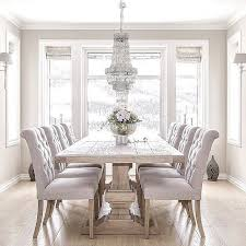Great All White Dining Room Set Luxmagz With Unique Dining Table