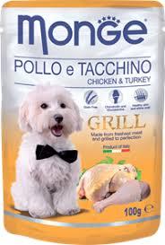 Корм для собак <b>MONGE Dog Grill</b> Pouch <b>паучи</b> курица с индейкой ...