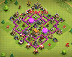 Clash Of Clans Th6 Base Design 14 Best Th6 Hybrid Base 2019 New Anti Giant Healer